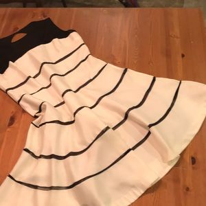 Sleeveless Dress, Fitted with Full Skirt, SZ: 14